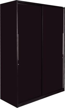 Godrej Interio Slide N Store Compact Plus 2-Door Wardrobe (Tex Shell Wine Red)