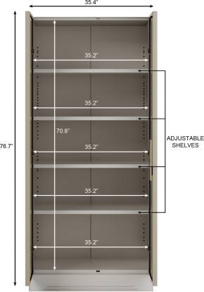 Godrej Interio Slimline 2-Door Almirah with 4 Shelves (Royal Ivory)
