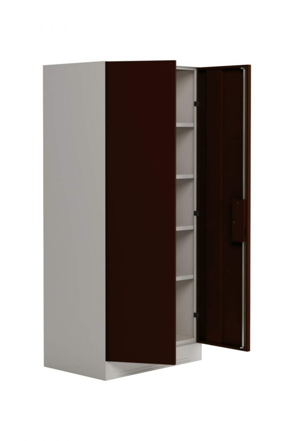Godrej Interio Slimline 2-Door Almirah with 4 Shelves (Russet)
