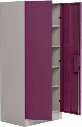 Godrej Interio Slimline 2-Door Almirah with 4 Shelves (Textured Purple)