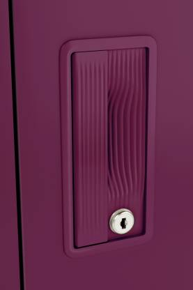 Godrej Interio Slimline 2-Door Almirah with 4 Shelves (Textured Purple)