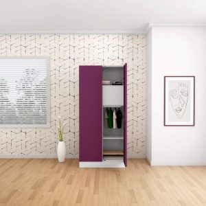 Godrej Interio Slimline 2-Door Almirah with Locker (Textured Purple)