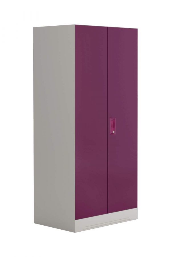 Godrej Interio Slimline 2-Door Almirah with Locker (Textured Purple)
