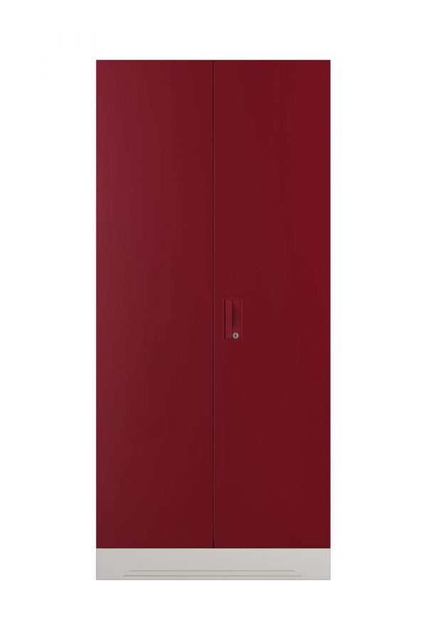 Godrej Interio Slimline 2 Door Steel Almirah with 2 Shelves and Mirror (Ceremine Red)
