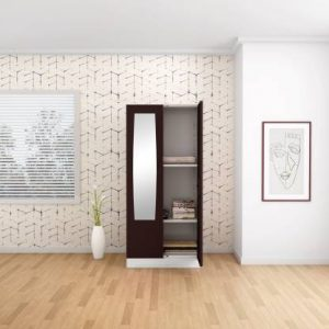 Godrej Interio Slimline 2 Door Steel Almirah with 2 Shelves and Mirror (Russet)