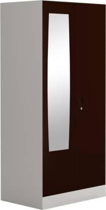 Godrej Interio Slimline 2 Door Steel Almirah with 2 Shelves and Mirror (Russet)