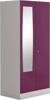 Godrej Interio Slimline 2 Door Steel Almirah with 2 Shelves and Mirror (Textured Purple)
