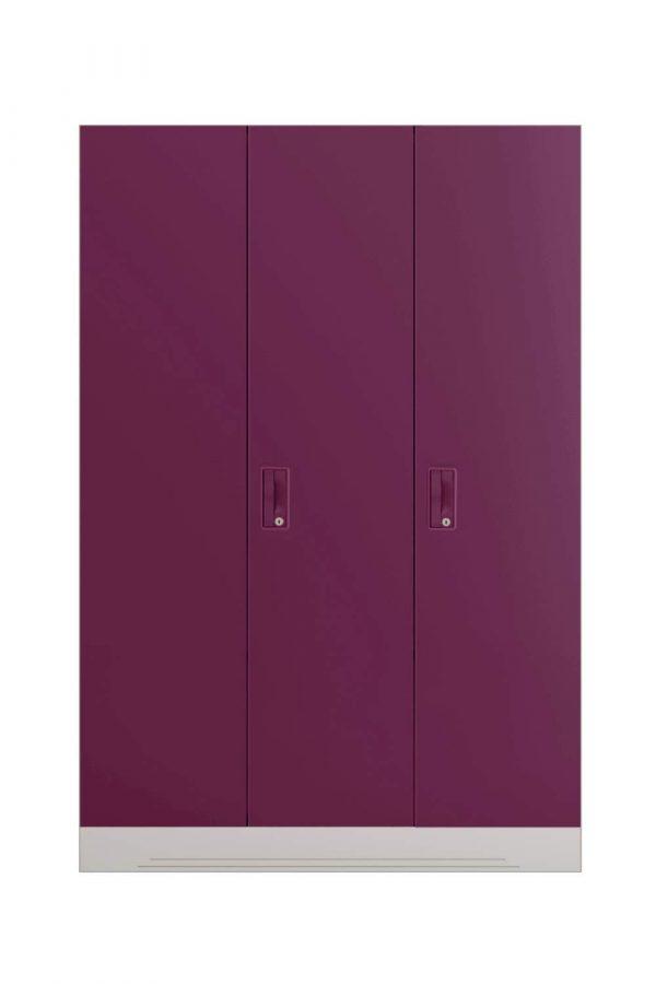 Godrej Interio Slimline 3-Door Almirah with Locker (Finish Color - Purple)
