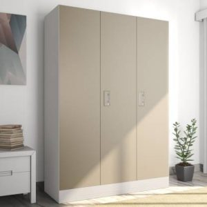 Godrej Interio Slimline 3-Door Almirah with Locker (Finish Color - Royal Ivory)