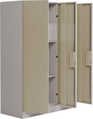 Godrej Interio Slimline 3-Door Almirah with Locker (Finish Color - Royal Ivory)