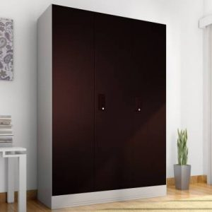 Godrej Interio Slimline 3-Door Almirah with Locker (Finish Color - Wine Red)