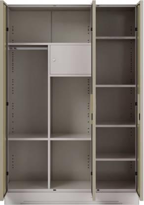 Godrej Interio Slimline 3 Door With Locker Metal Almirah (Finish Color - Royal Ivory)