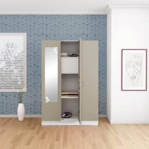 Godrej Interio Slimline 3 Door With Locker Metal Almirah (Finish Color - Royal Ivory)