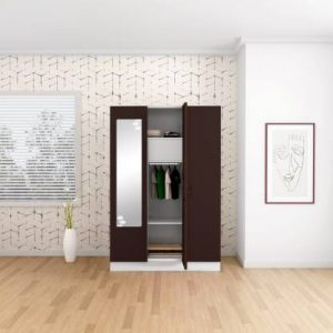 Godrej Interio Slimline 3 Door With Locker Metal Almirah (Finish Color - Russet)