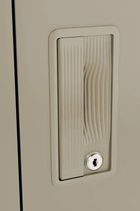 Godrej Interio Slimline 3 Door With Locker and Drawer Metal Almirah (Finish Color - Royal Ivory)