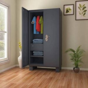 Godrej Interio Wardrobe H1 Metal Almirah (Finish Color - Graphite Grey)