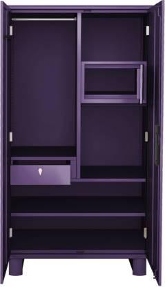Godrej Interio Wardrobe-H1 Metal Almirah (Finish Color - Purple)