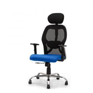 Symphony Blue Mesh Fix Headrest Back Chair