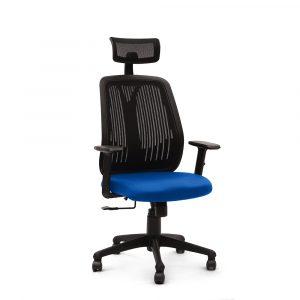 Symphony Blue Mesh Fix Headrest Back Ergonomic Chair