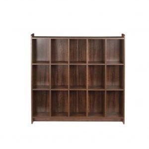 Tarim Engineered Wood Semi-Open Book Shelf (15 Shelves)