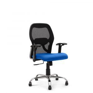 Wisbech Blue Fixed Armrest Chair