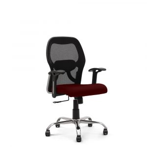 Wisbech Maroon Fixed Armrest Chair