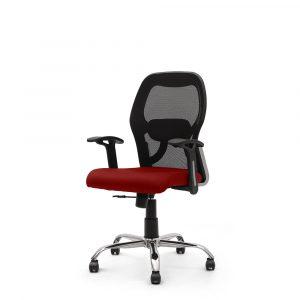 Wisbech Red Fixed Armrest Chair