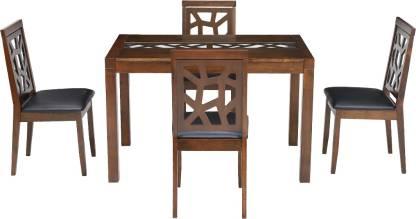 Yarqon Solid Wood 4 Seater Dining Set