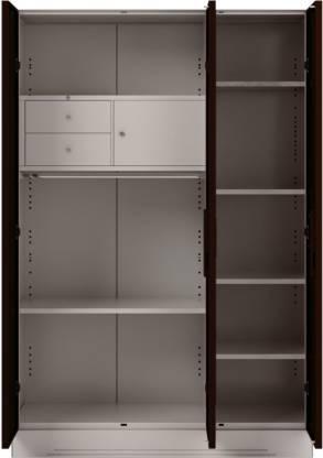 Godrej Interio Slimline 3 Door With Locker Metal Almirah (Finish Color - Russet)