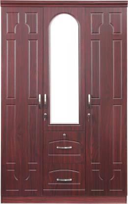 Alster Engineered Wood 3 Door Wardrobe