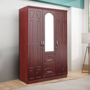 Alster Engineered Wood 3 Door Wardrobe