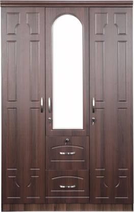 Alster Walnut Engineered Wood 3 Door Wardrobe