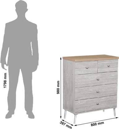 Arno Engineered Wood Free Standing Chest of Drawers