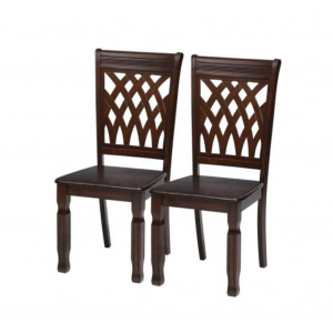 Barron Solid Wood Wenge Dining Chair (Set of 2)