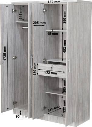 Bosna Engineered Wood 4 Door Wardrobe