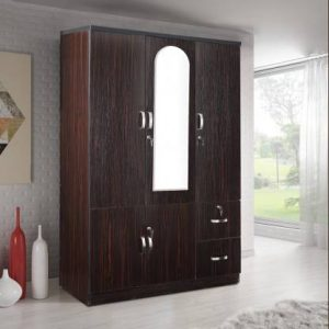Boyne Dark Walnut Engineered Wood 3 Door Wardrobe