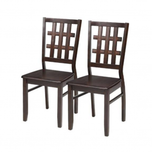 Brisbane Solid Wood Wenge Dining Chair (Set of 2)