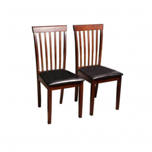 Campa Solid Wood Wenge Dining Chair (Set of 2)