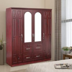 Eider Engineered Wood 4 Door Wardrobe