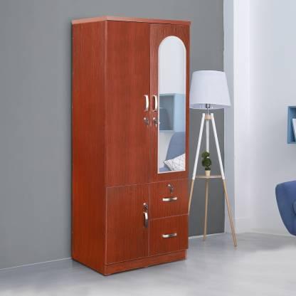 Elbe Engineered Wood 2 Door Wardrobe