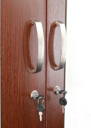 Finn Walnut Engineered Wood 4 Door Wardrobe