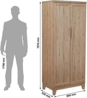 Liffey Engineered Wood 2 Door Wardrobe