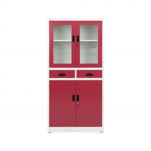 Clair Metal Close Book Shelf (Finish Color - Red violet)