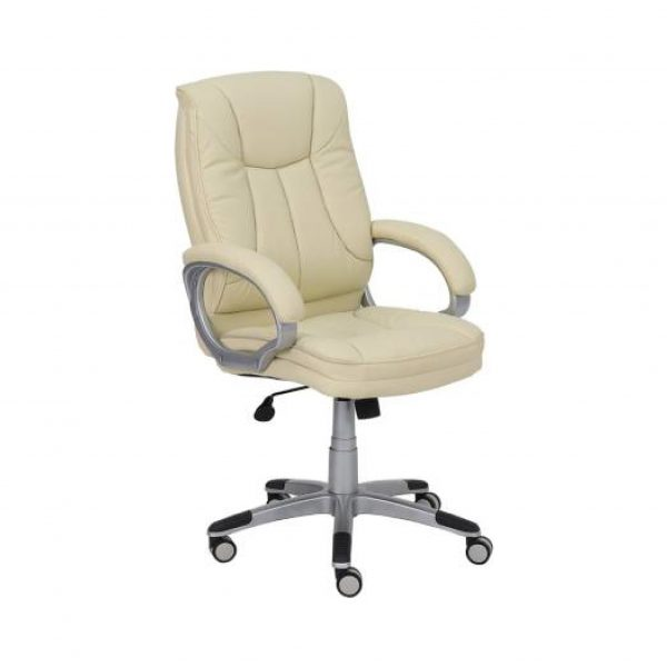 George Leatherette Office Arm Chair