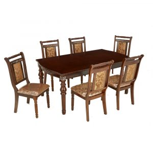 Carolina Solid Wood 6 Seater Dining Set