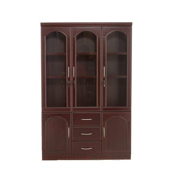 Saco 3 Door Wooden BookshelfBook Case Almirah