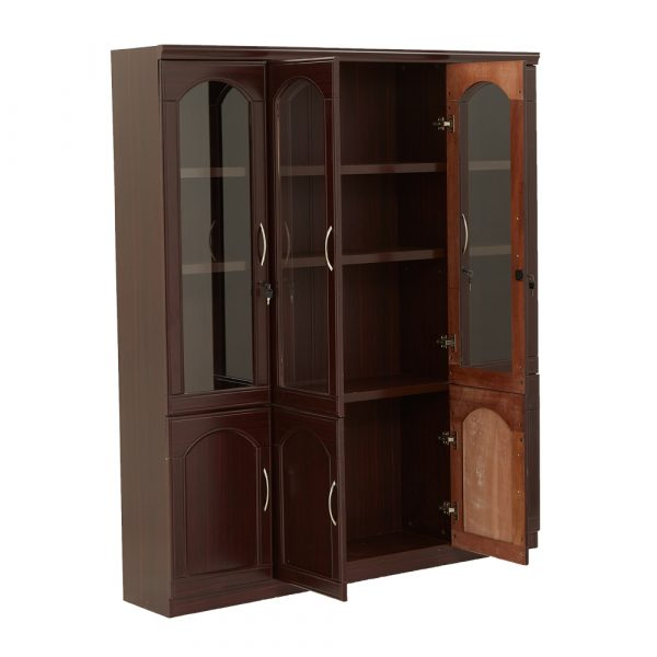 Saco 4 Door Wooden BookshelfBook Case Almirah