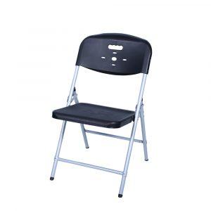Luxor Black Portable Folding Chair