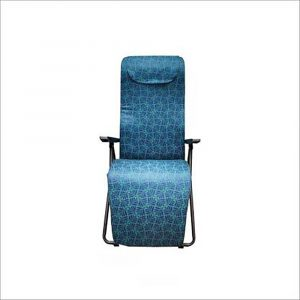 Luxor Blue Portable Folding Recliner Chair