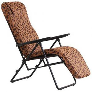 Luxor Brown Portable Folding Recliner Chair